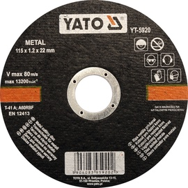 Yato YT-5920 Metal Cutting Disc 115mm
