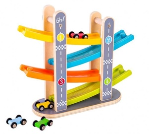 EcoToys Wooden Slide Track With Cars
