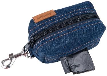 Amiplay Denim Waste Bags Dispenser Navy Blue