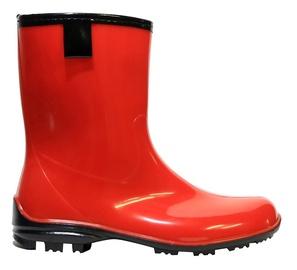 Moteriški guminiai batai, su aulu, raudoni, 38 dydis