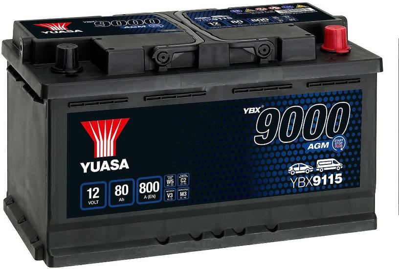 Аккумулятор Yuasa, 12 В, 80 Ач, 800 а