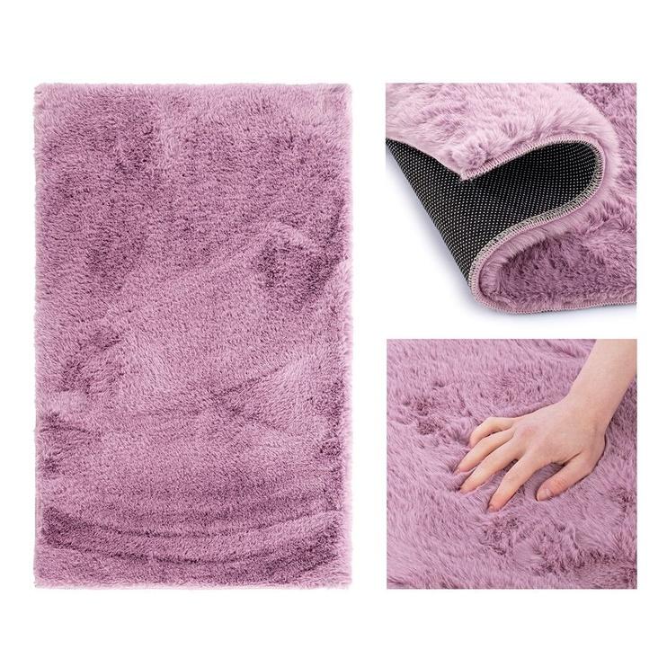 Ковер AmeliaHome Lovika, фиолетовый, 80 см x 50 см
