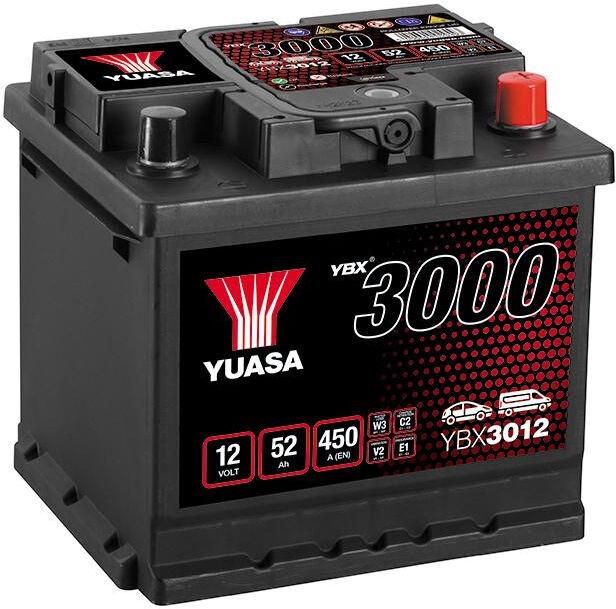 Аккумулятор Yuasa, 12 В, 52 Ач, 450 а