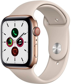 Apple Watch Series 5 44mm GPS Gold Stainless Steel Case with Stone Band Cellular