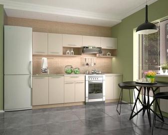 Кухонный гарнитур Halmar Viola, кремовый/дубовый, 2.6 м