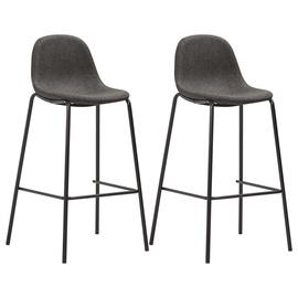 Барный стул VLX Fabric 281525, темно-серый, 2 шт.