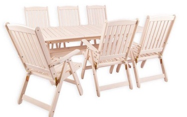 Folkland Timber Folding Garden Set Bavaria 6 White