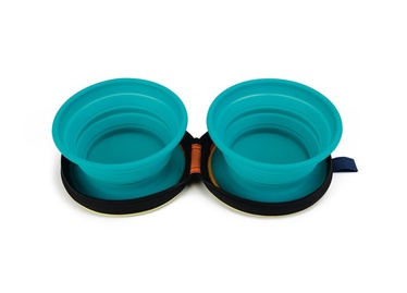 Beeztees Travel Silicone Bowl Set Eesy Green 2x720ml