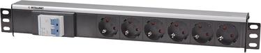 Intellinet Power Strip Rack 19'' 1.5U 250V/16A 6xSchuko 1.6m Black