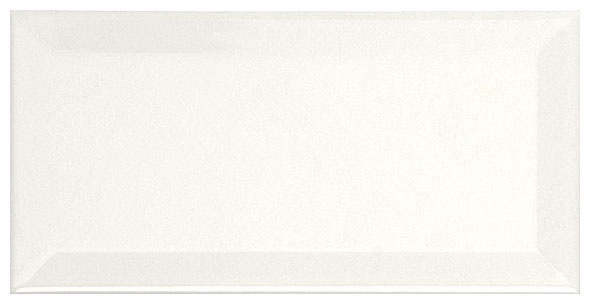 Keraminės sienų plytelės Metro Biselado Blanco Brillo, 7.5X15 cm