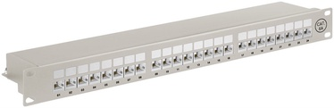 Wentronic CAT 6A Patch Panel 24 Port Grey