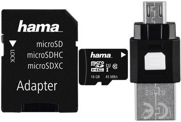 Hama 16GB microSDHC UHS-I Class 10 + SD Adapter + OTG Adapter