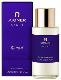 Aigner Debut By Night Bath And Shower Gel 200ml