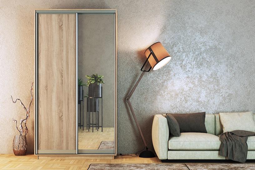 MN 3142003 Wardrobe w/ Sliding Doors And Mirror Santana Oak