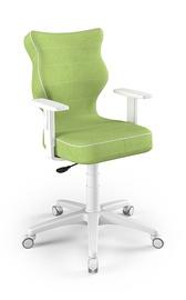 Vaikiška kėdė Entelo Duo Size 6 VS05, balta/žalia, 425x400x1045 mm