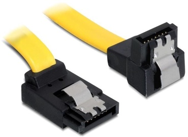 Delock Cable SATA / SATA 6 Gb/s Yellow 0.50 m