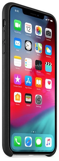 Чехол Apple Leather Back Case For Apple iPhone XS Max Black