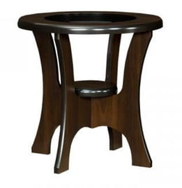 Bodzio S01 Round Coffee Table Walnut