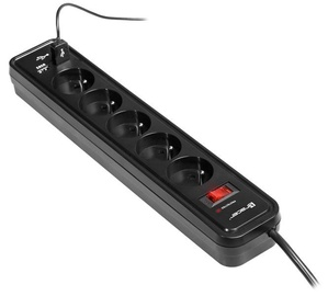 Tracer Power Cord 5 outlets Black 1.5m