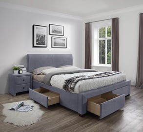 Gulta Halmar Modena 3 Grey, 220x164 cm, ar režģi
