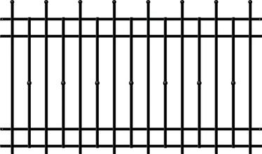 Сегмент забора Polargos, 200x147.5 см
