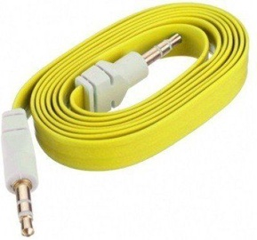 Mocco Flat Premium 3.5mm To 3.5mm AUX Cable 90cm Yellow