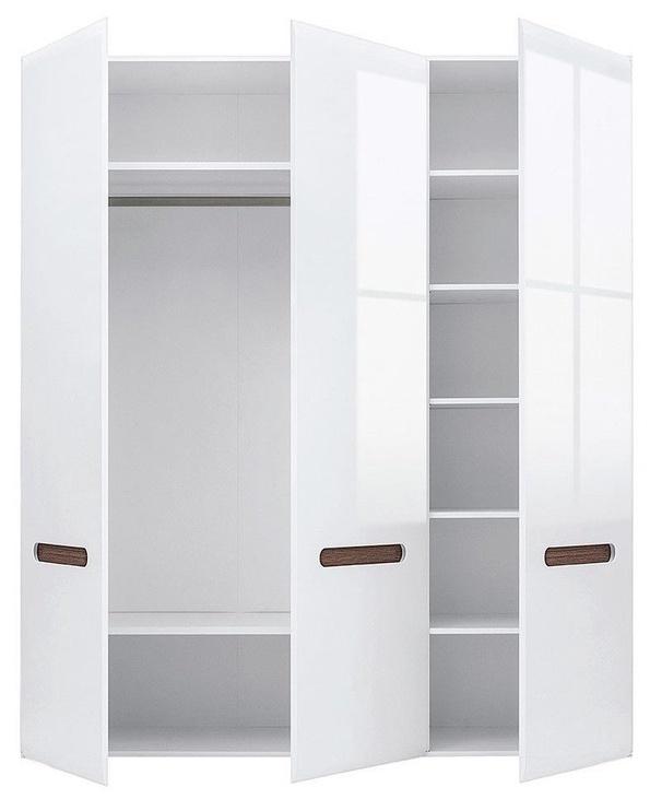 Skapis Black Red White Azteca Trio White, 180x57x210 cm