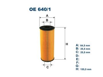 Automobilių tepalo filtras Filtron OE 640/1