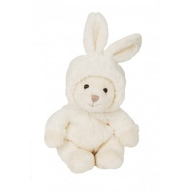 Pliušinis žaislas Bukowski Bear-With Rabbit Hat White, 15 cm