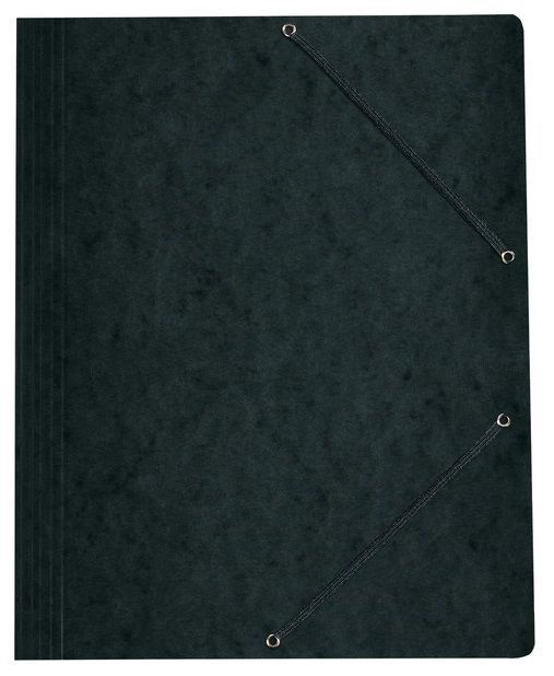 Herlitz 3-Flap File With Elastics A4 Colorspan Black