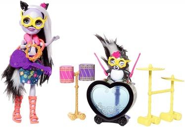 Mattel Doll Enchantimals And Rockin Drum Set FRH41