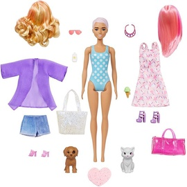 Mattel Barbie Color Reveal Doll Set Beach To Party Reveal GPD55