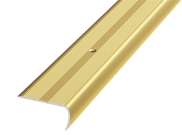 Kāpņu leņķa līste D13, 2.7m, zelta
