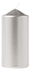Eika Pillar Candle 11x6cm Silver