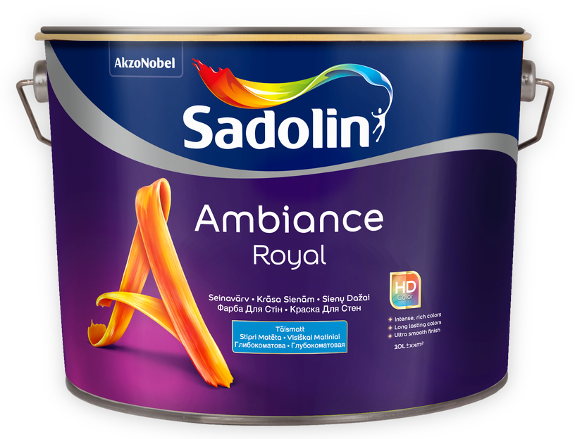 Krāsa Sadolin Ambiance Royal BW 10L