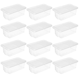 Songmics Plastic Shoe Box White 12pcs
