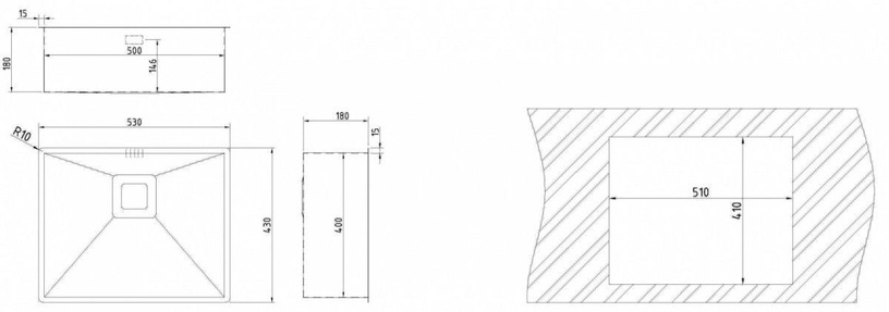 Мойка Teka Square 50/40 Sink Stainless Steel