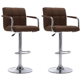 Bāra krēsls VLX Fabric 283422, tumši brūna, 2 gab.