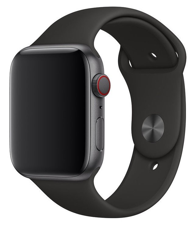 Apple 44mm Black Sport Band M/L & L/XL