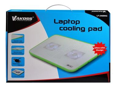 Vakoss LF-2468 Laptop Cooling Pad 17'' White/Green