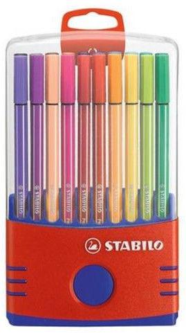 Stabilo Pen 68 Color Parade Red/Blue Case