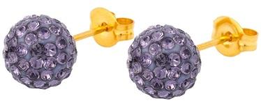 Caflon Fashion Sense Earrings 8mm Glitterball Tanzanite