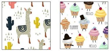Mondex Molly Magnets Set Ice Cream & Lama 24pcs