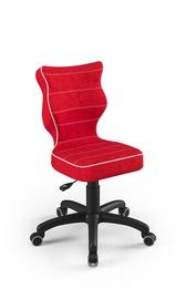Детский стул Entelo Petit VS09, черный/красный, 350 мм x 830 мм