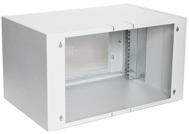 Assmann Wall Cabinet 19'' 6U/550x350mm Glass Grey