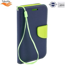 TakeMe Fancy Diary Bookstand Case Xiaomi Redmi 7 Blue/Light Green