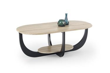 Kohvilaud Halmar Odilia San Remo Oak/Black, 1200x600x450 mm