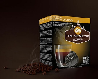 Caffè Tre Venezie Leon D'Oro kavos kapsulės, 16 vnt.