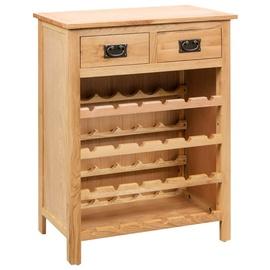 Pudeliriiul VLX Wine Solid Oak Wood, pruun, 720 mm x 320 mm x 900 mm