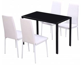 Обеденный комплект VLX 5 Pieces 242989, белый/черный
